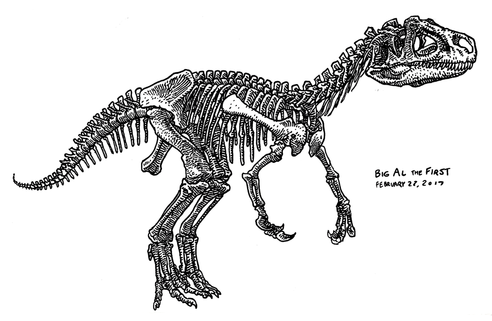 Allosaurus I , 2017
