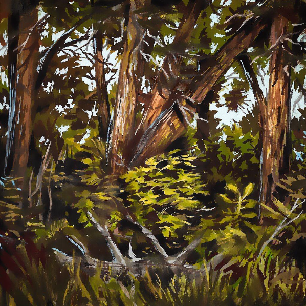 Inglewood Bird Sanctuary II , gouache on paper, 2017
