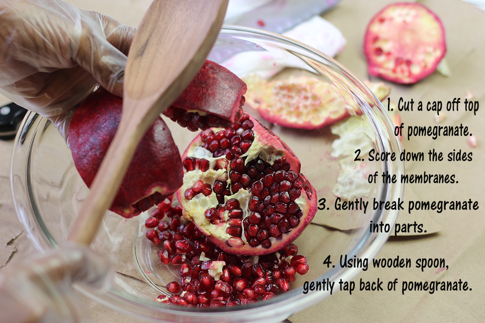 Click here to learn How    To Easily De-seed A Pomegranate