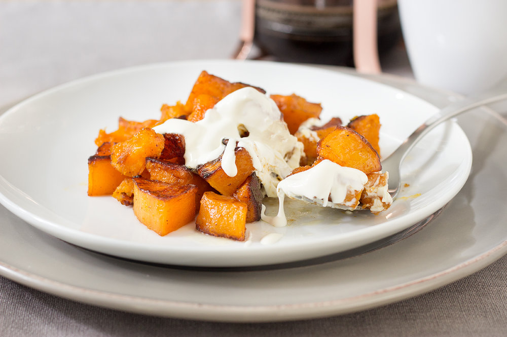 Spiced Butternut Squash with Creme Fraishe