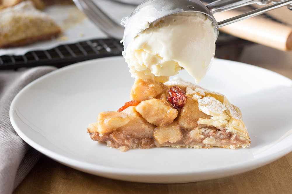 Ice Cream and Easy Ginger Pear Crostata