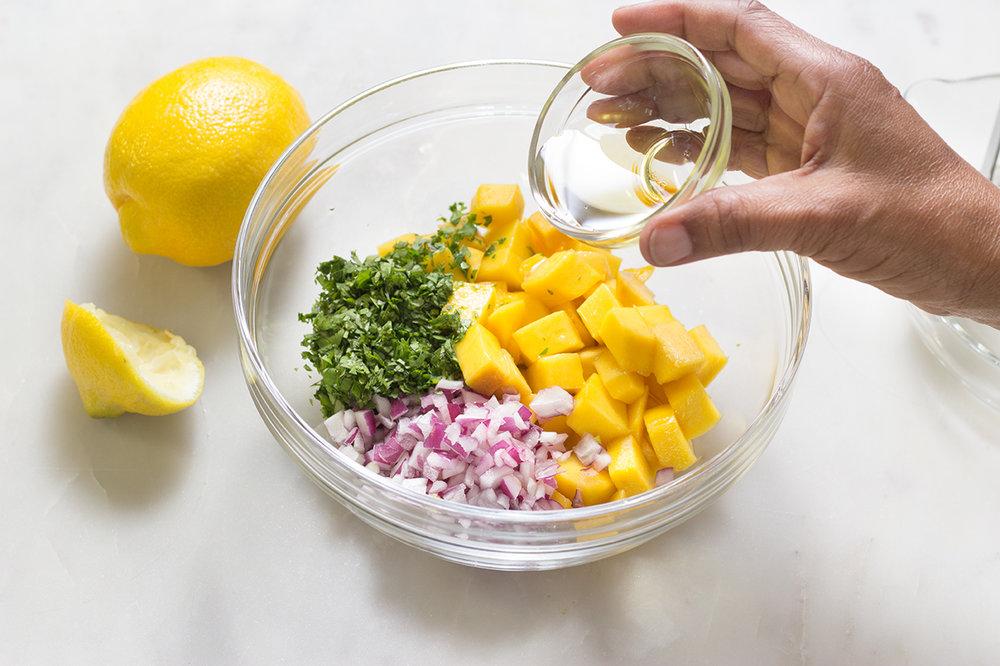 Add olive oil.