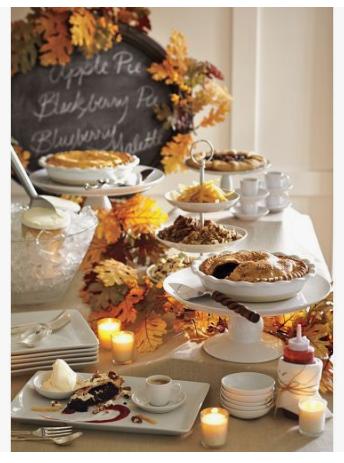 Thanksgiving Dessert Buffet   source