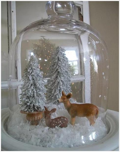 Winter wonderland under glass gloche   source