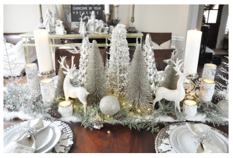 Winter wonderland Christmas Tablescape   source