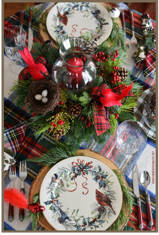 Christmas tablesetting by   Home Is Where The Boat Is
