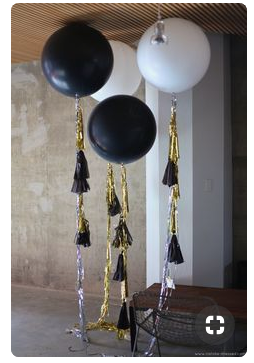 Black and white balloons   source