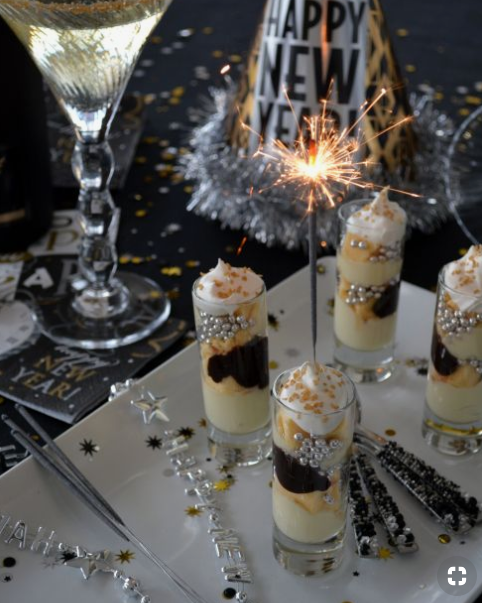 Parfaits for New Year's eve party from   Home Is Where The Boat Is