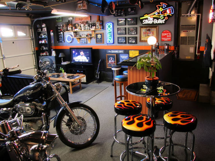 Garage Man Cave   source