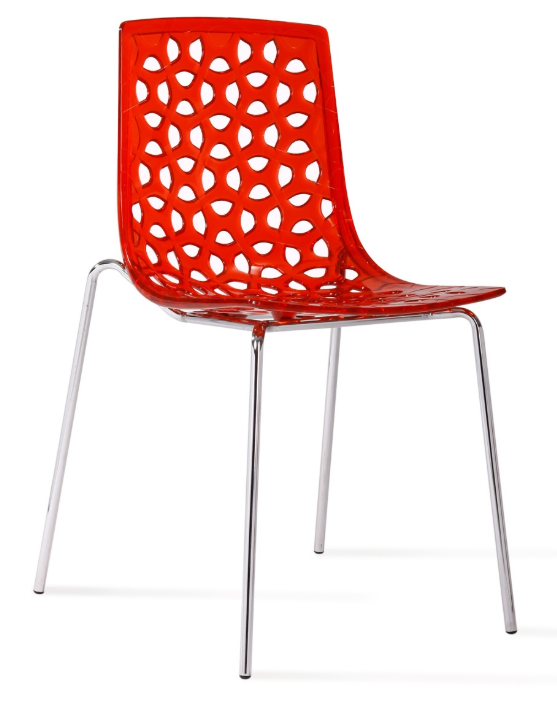 Source   on where to find Delilah Stacking transparent Chair