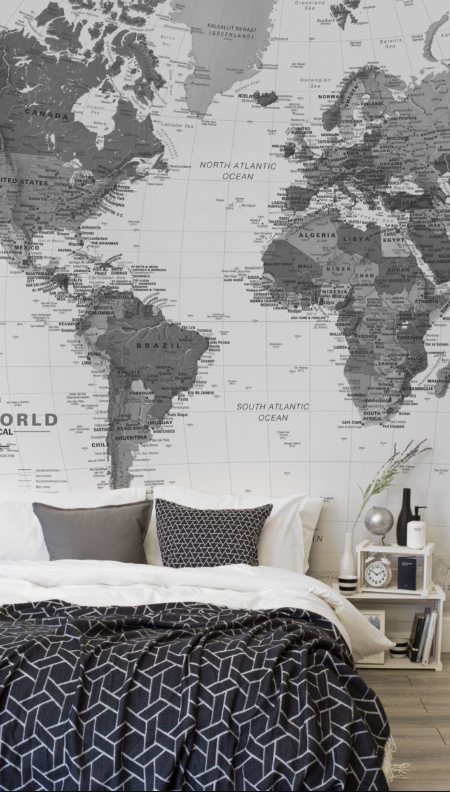 World Map Wallpaper   Murals Wallpaper UK