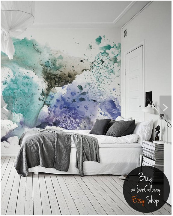Ink splatter removable wallpaper by   Coloray   on Etsy