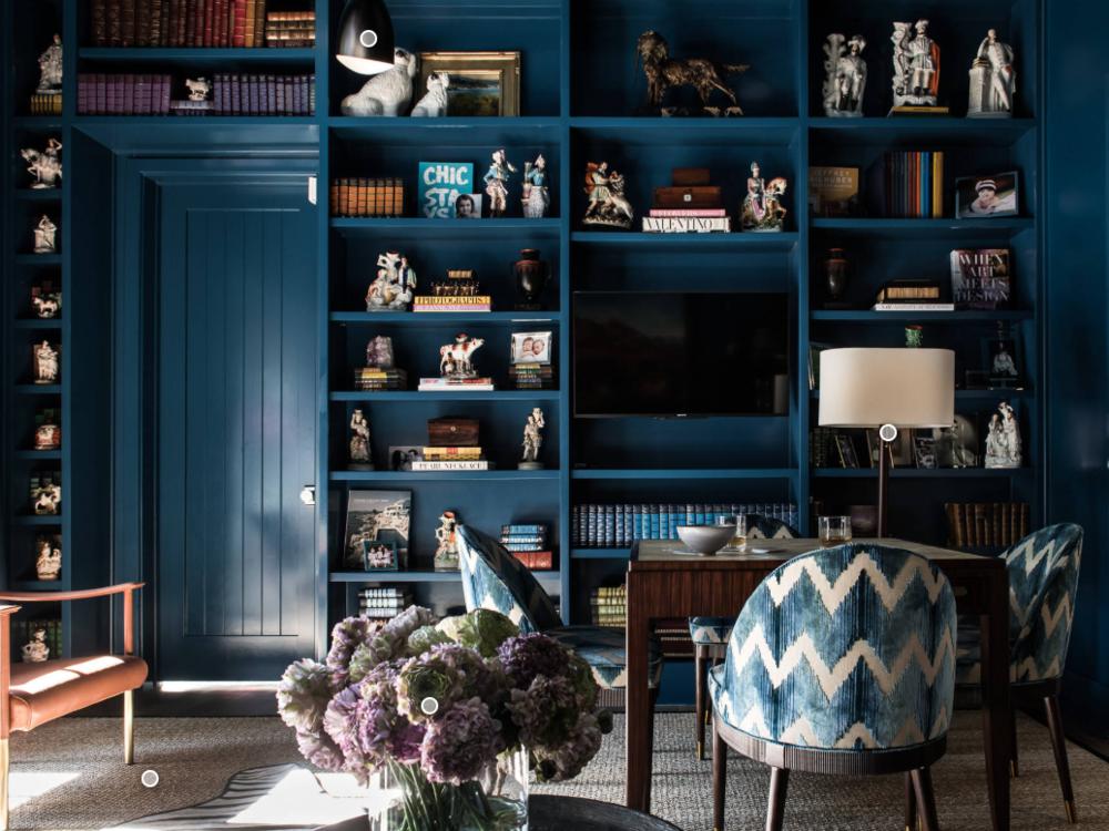 Blue-room office by Jan Jones. Source:   Houzz