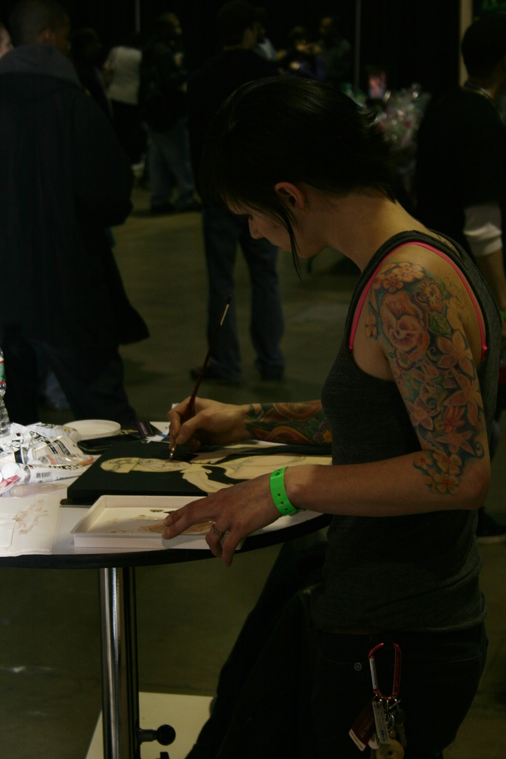 Live painting at the Philadelphia Tattoo Convention. 2013.