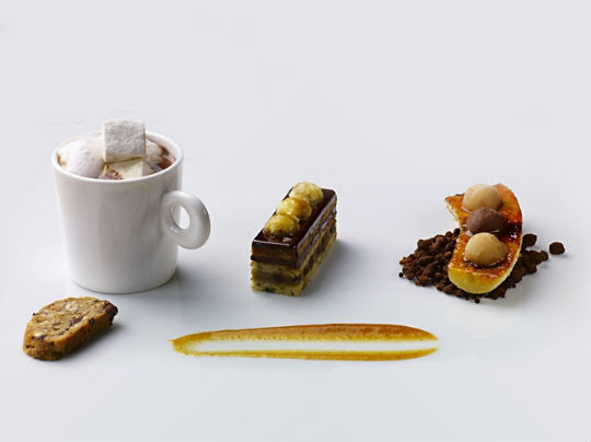 Chef James Distefano uses date sugar and quinoa flour for his desserts