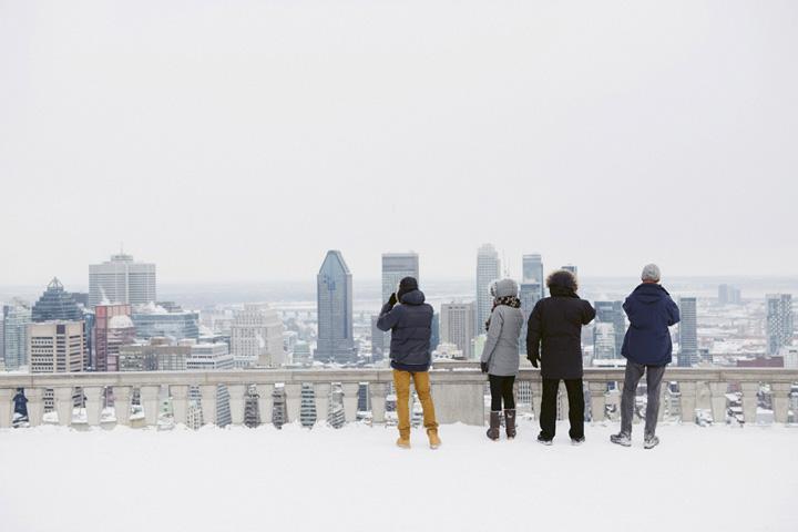 Photo:  Cindy Boyce  - Montréal l'hiver: Recettes et récits tricotés serrés