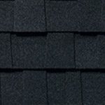 Rustic black roof shingles