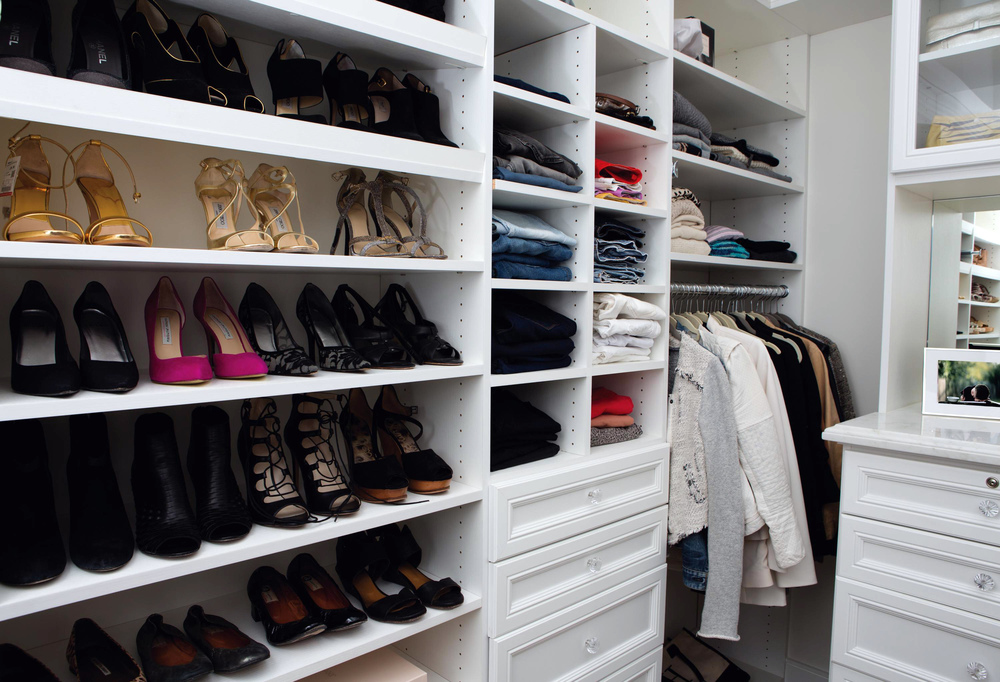 Classic White walk-in closet