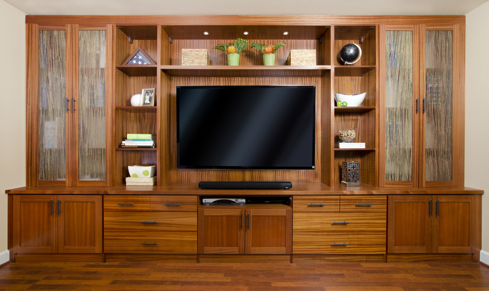 Sapele Entertainment Center