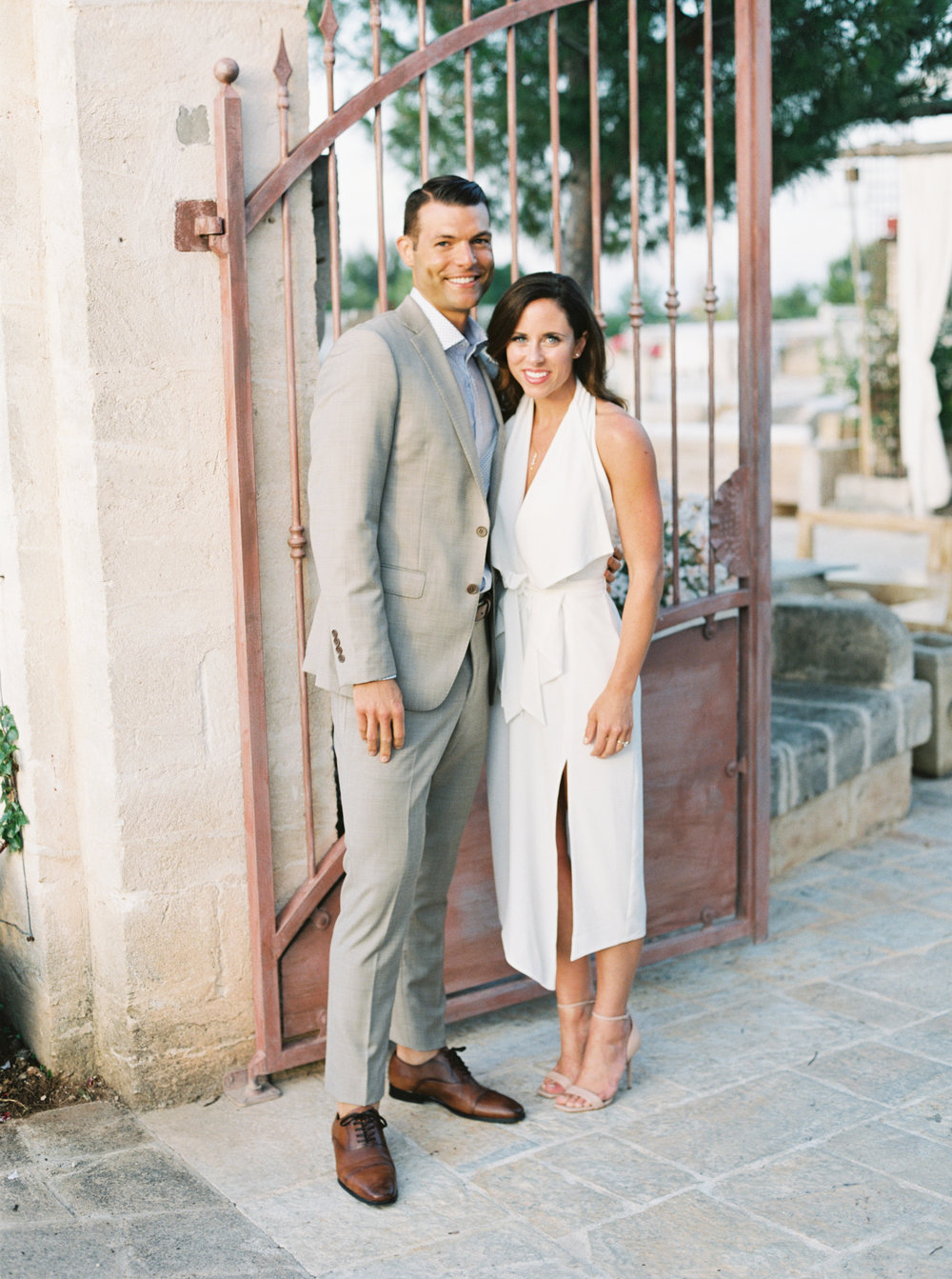 Destination wedding welcome party attire - Planned by Meggie Francisco Events at Masseria Montenapoleone in Puglia, Italy. Photography by Tracy Enoch, video by Innar Hunt.