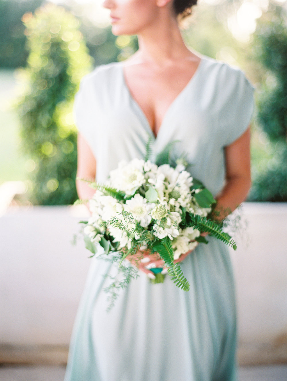 Green and white castle wedding inspiration by Columbus, Ohio wedding planner Meggie Francisco. Photo by Charla Storey.