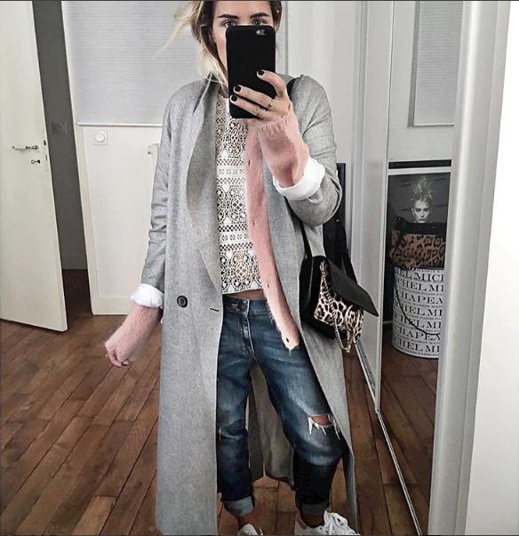 Audrey Lombard porte le manteau long Margaux Lonnberg :)