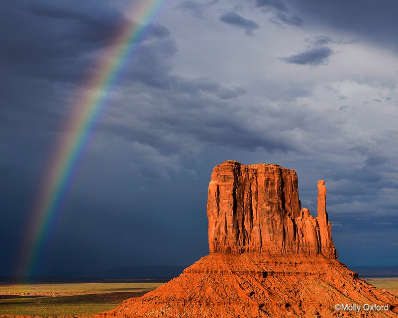 Rainbow in Monument Valley No. 1