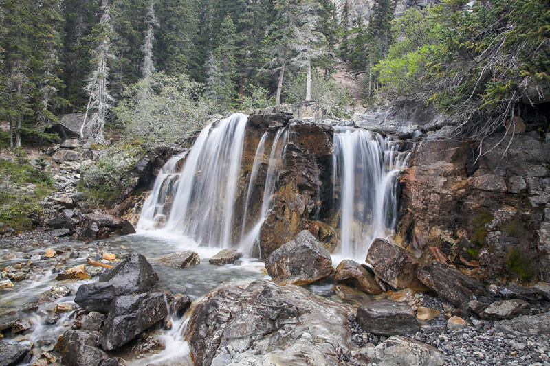 © Ron Marabito, Middle Tangle Falls along the Icefields Pkwy, BC