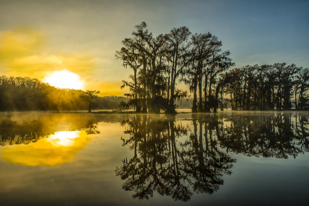 Sunrise on Caddo Lake