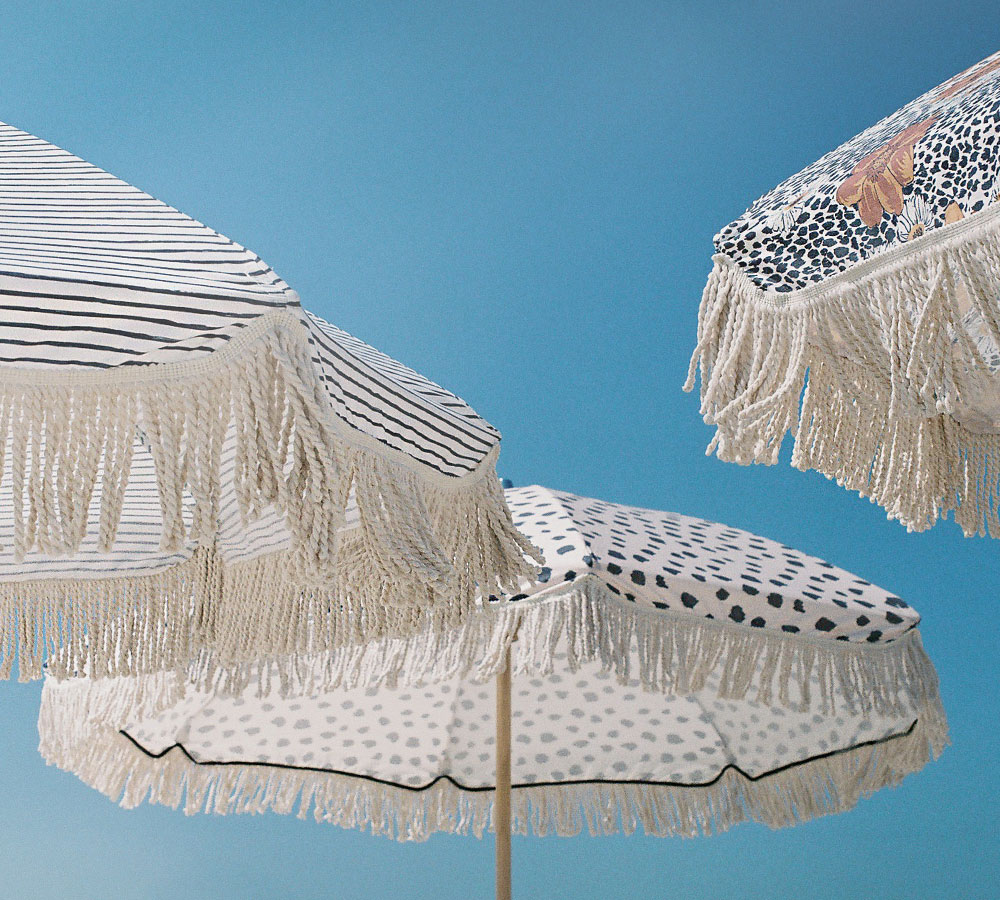 Sunday Supply Co. Beach Umbrella - Australia knows how to beach—these vintage-inspired beach umbrellas from Sunday Supply Co. are made for shade...