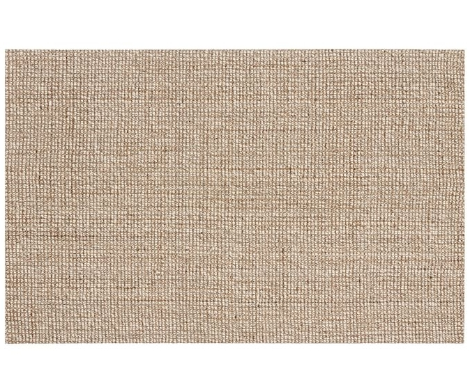 Pottery Barn | Chunky Wool & Jute Rug ($719) - You might compromise a bit visually on the smoother texture here, as compared with the RH version, but frankly, a thicker texture is much more difficult to keep clean, so I would opt for this one anyway! Have you ever tried to clean a spilled bowl of quinoa out of a textured jute rug? No? Oh. Err, me neither.