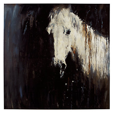 "Z Gallerie ""Horse In The Rain"" Canvas"