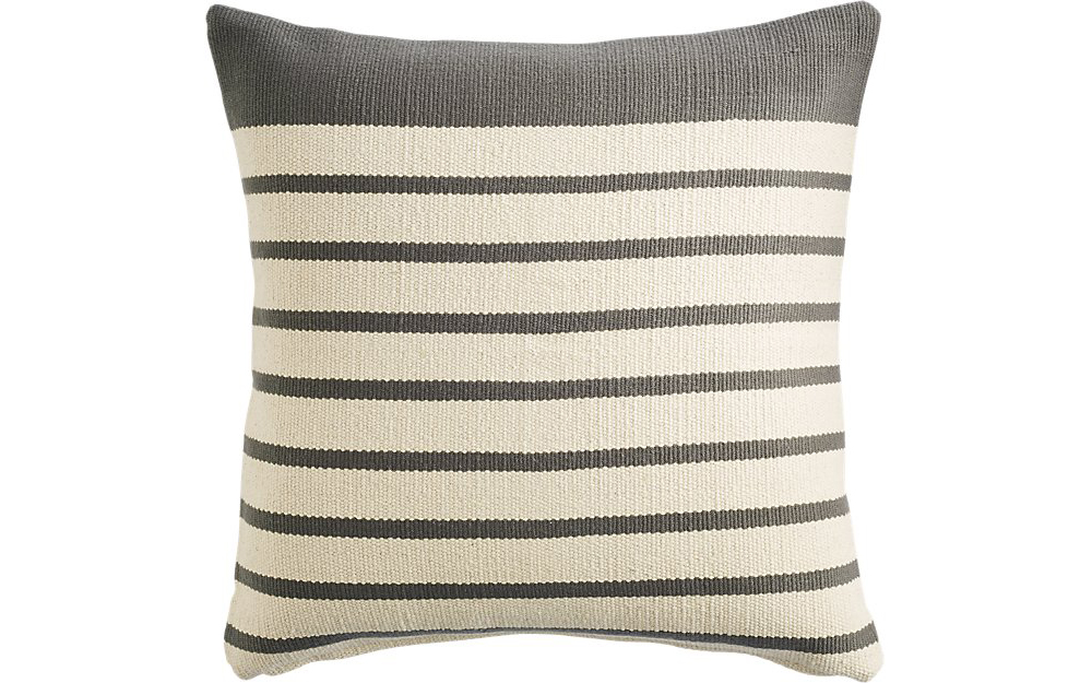 "CB2 20"" Division Grey Pillow"
