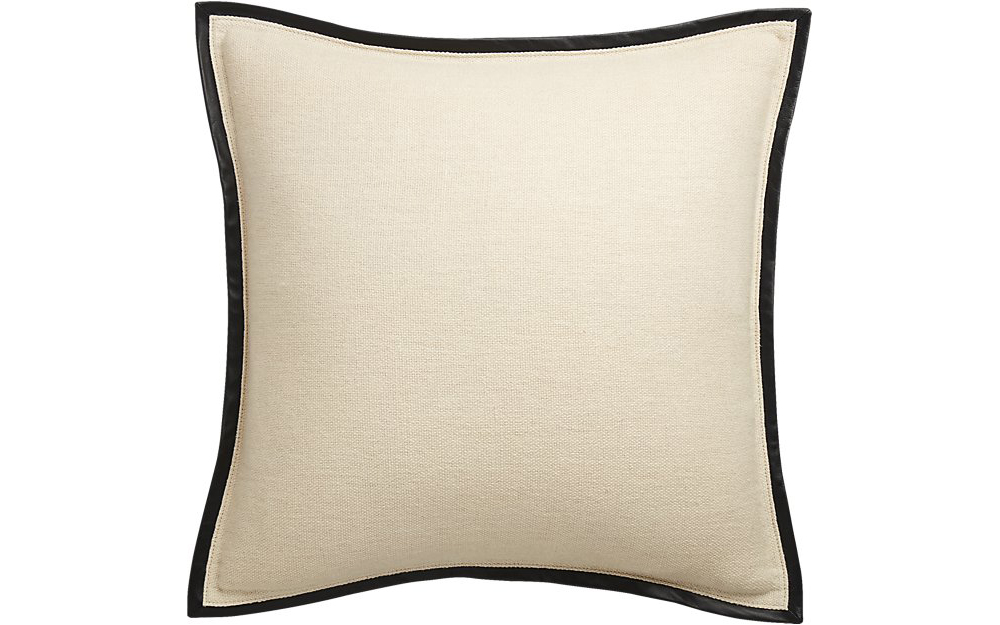 "CB2 20"" Delaney Beige Linen Pillow"