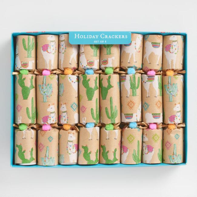 World Market Llama Kraft Paper Crackers