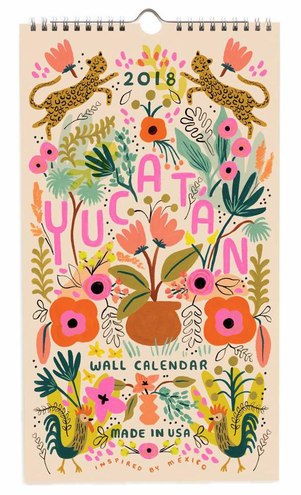 Leif Yucatan 2018 Calendar