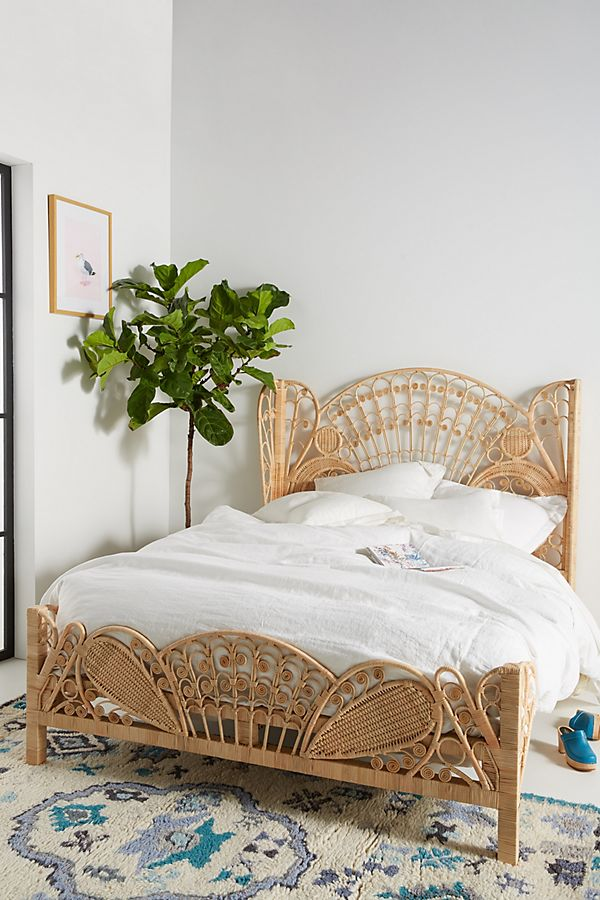 Anthropologie Kinsella Rattan Bed - As Mackenzie said,