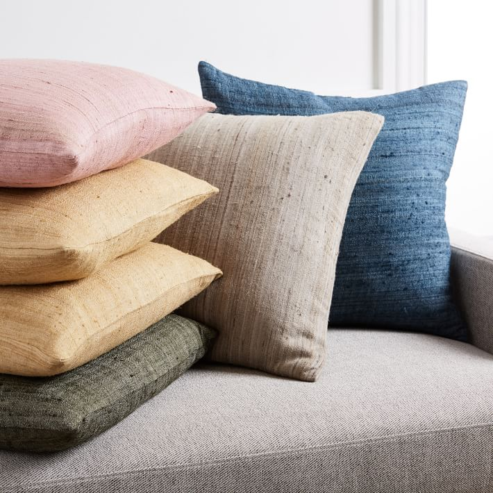 Woven Silk Pillow Covers