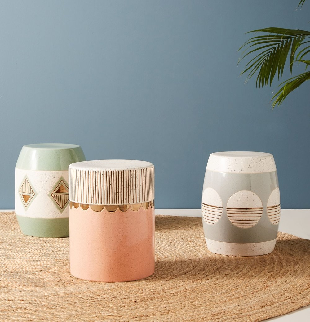 Cathy Terepocki Ceramic Stools from Anthropologie