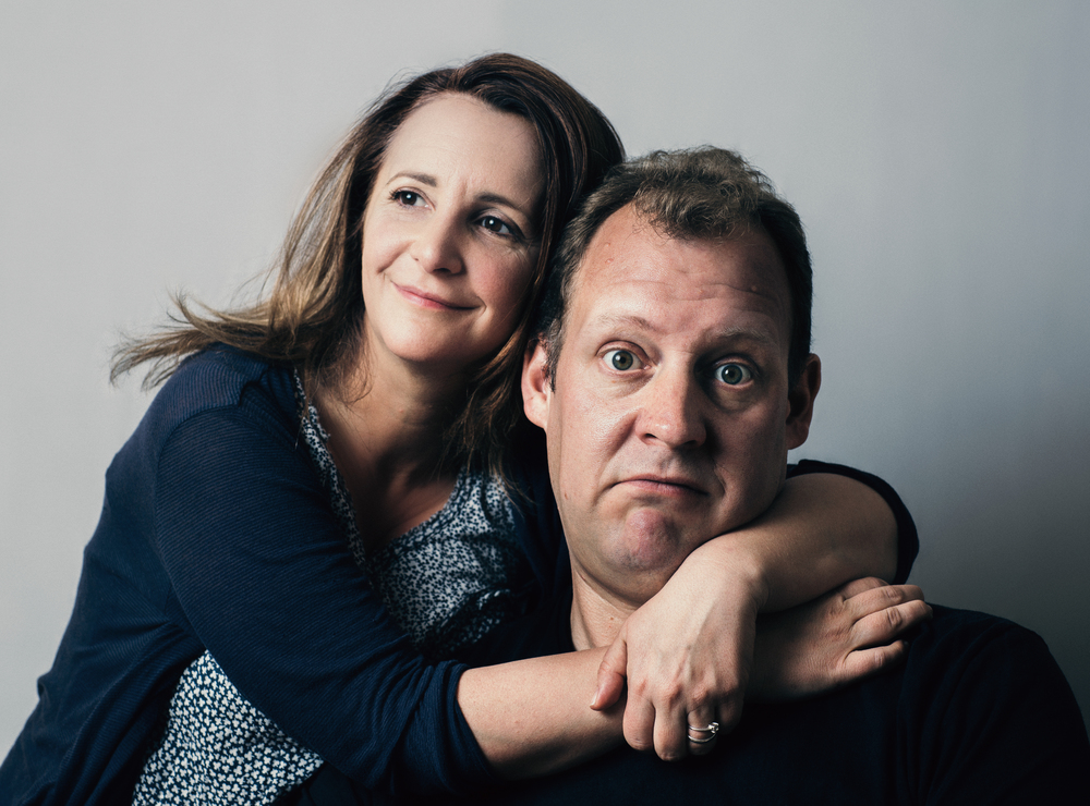 Lucy Porter and Justin Edwards