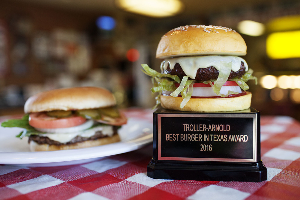 Rooster's Steakhouse has been awarded the  Best Burger in Texas  for 2016.