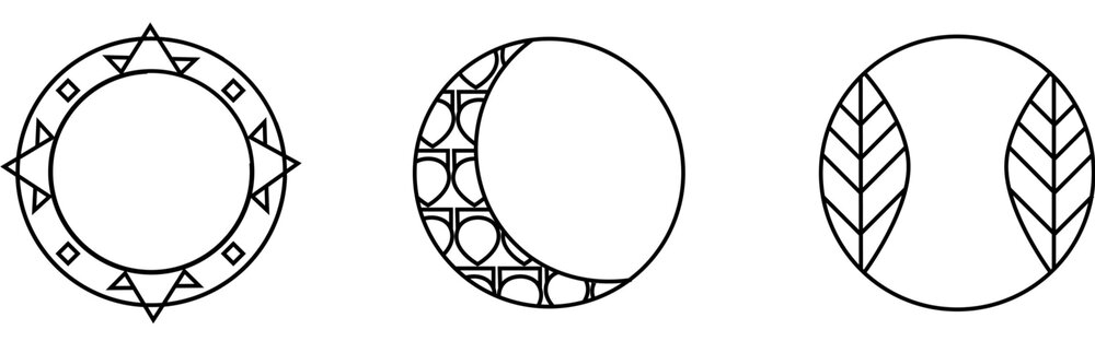 "While concepting the logos it became clear that they had to stay within the constraints. Beats signature logo is the lower case ""b"" inside a circle. So I knew Circles had to be the uniting force. In these first roughs I centered the theme around the Sun Moon, and Earth."