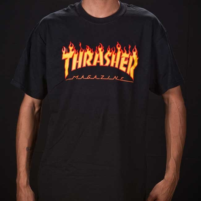 7e5f5a85a Thrasher Magazine Flame Logo T-shirt Black — Soul Studio   Shop ...