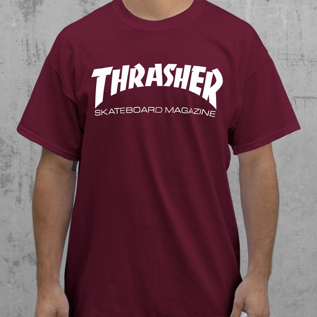 6225f6e7 Thrasher Skateboard Magazine T-shirt Maroon — Soul Studio | Shop ...