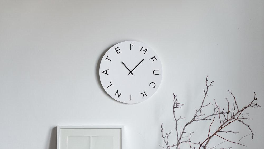 I'm fucking late Mood Clock
