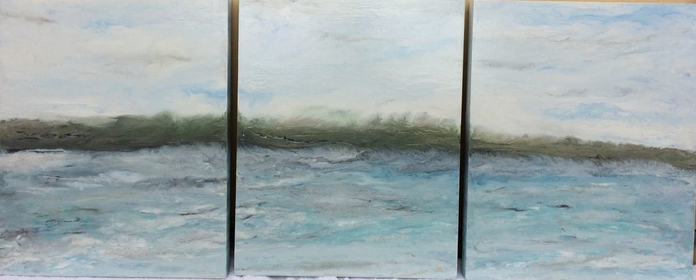 (SOLD) NORTH SHORE (Triptych)