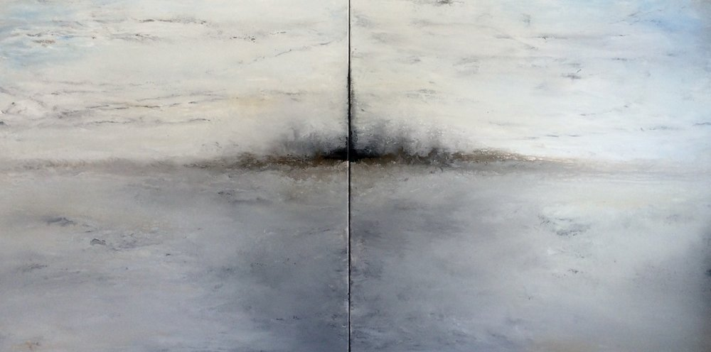 "WINTER SILENCE (Diptych 30x60"")"