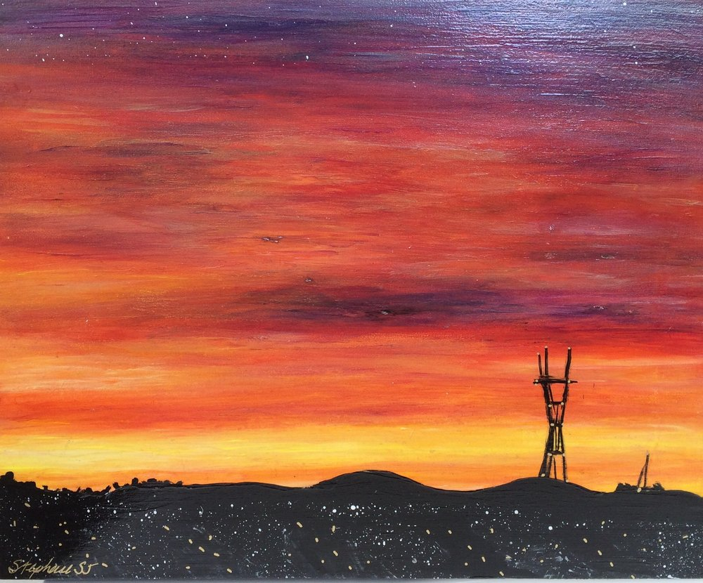 (SOLD) SUTRO SUNSET #8