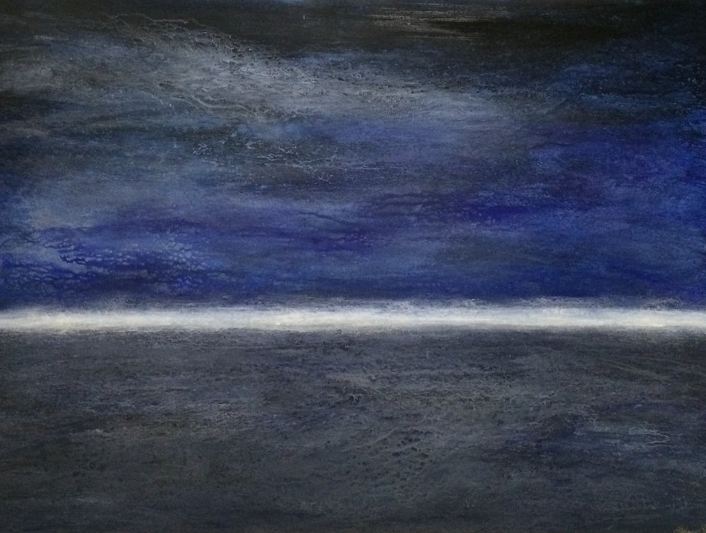 "MIDNIGHT SEAS (36""x48"")"