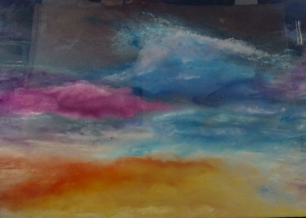 "COSMIC SUNSET #2 (36x48"")"